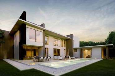 New-Build Villa in Bauhaus Style