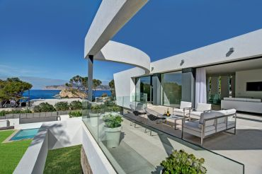 Modern architecture by the sea